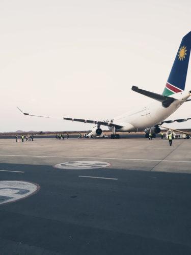 Air Namibia am Flughafen von Windhoek - inzwischen leider pleite.